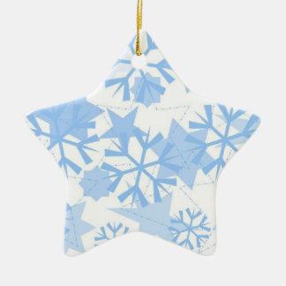 Christmas Ornament-Snowflakes Ceramic Star Decoration