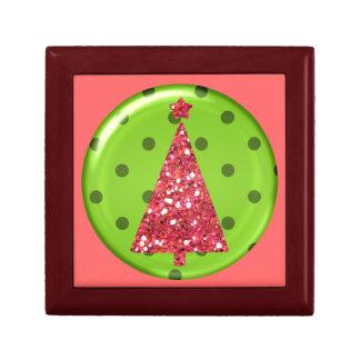 Christmas Ornament Tree Tile giftbox Small Square Gift Box