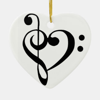 **CHRISTMAS ORNAMENT** WITH MUSICAL NOTE HEART CHRISTMAS ORNAMENT