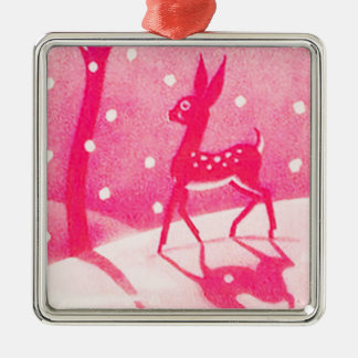 Christmas Ornament with Pink Deer