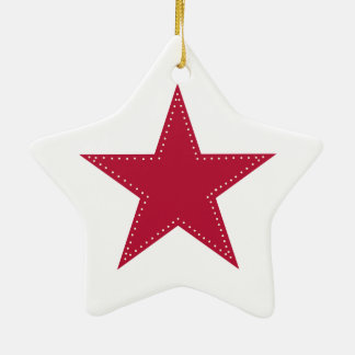 Christmas ornament with red star.