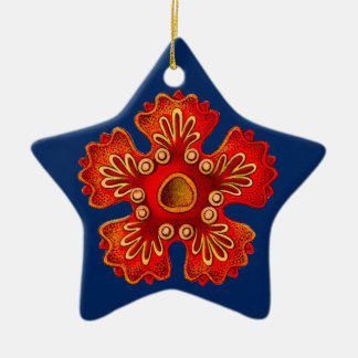 Christmas ornament with red starfish