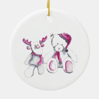 Christmas ornament with Rudolph and friend