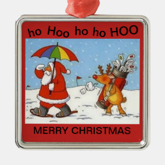 Christmas Ornament with Santa Playing Golf
