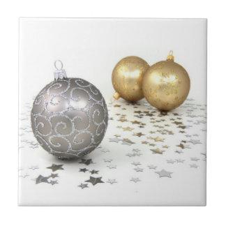 Christmas Ornament With Stars Tile