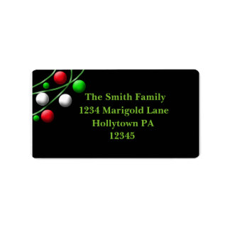 Christmas Ornaments Address Labels