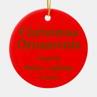 Christmas Ornaments Advert