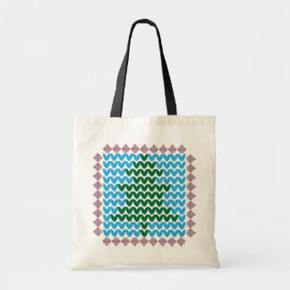 Christmas Ornaments and Tree Ugly Holiday Sweater Budget Tote Bag