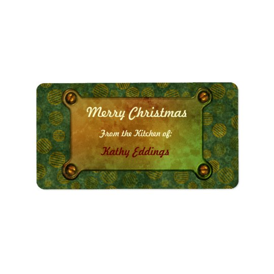 Christmas Ornaments Chic  Kitchen Labels