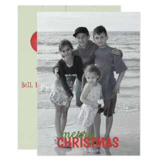 Christmas Ornaments Double Sided Photo Card
