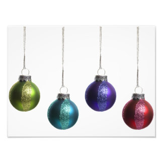Christmas Ornaments in Teal Purple Red Green Gold Photo