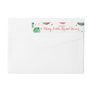 Christmas Ornaments Merry Little Bridal Shower Wrap Around Label