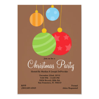 Christmas Ornaments Party Holiday Invite