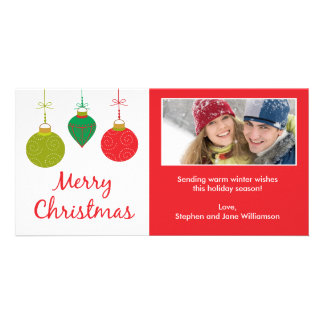 Christmas Ornaments Photo Card 2011