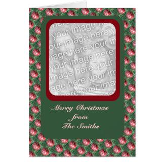 Christmas Ornaments photo frame Greeting Card