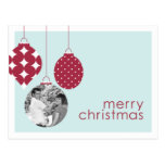 Christmas Ornaments Photo Greeting Post Cards