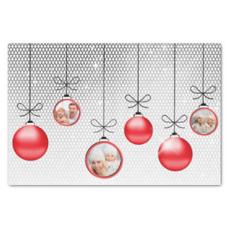 Christmas Ornaments Photo Template Red ID251 Tissue Paper