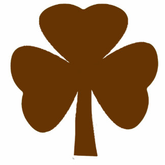 Christmas Ornaments Shamrock Brown Photo Sculpture Decoration