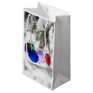 Christmas ornaments small gift bag