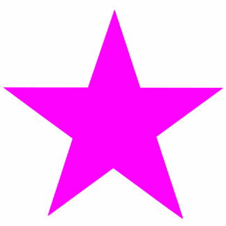Christmas Ornaments Star Magenta Photo Sculpture Decoration