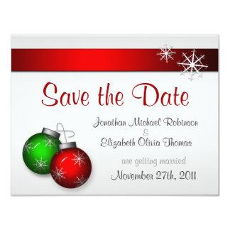 Christmas Ornaments Wedding Save the Date 11 Cm X 14 Cm Invitation Card