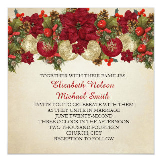 Christmas Ornaments Winter Wedding Invite