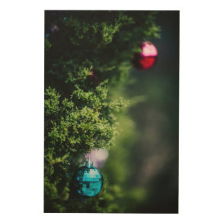 Christmas Ornaments Wood Canvases