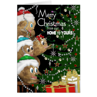 CHRISTMAS - Our Home to Yours - POTATO FAMILY Greeting Card