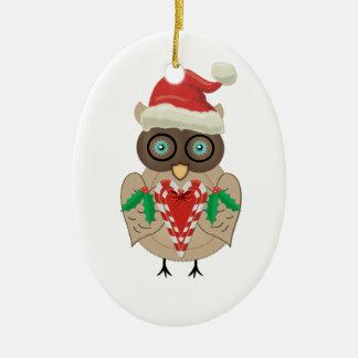 Christmas Owl Christmas Ornament