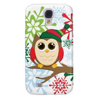 Christmas owl galaxy s4 case