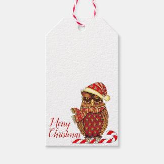 Christmas Owl gift tags