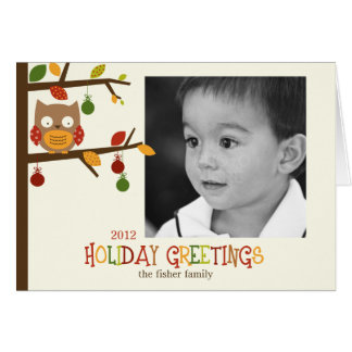 Christmas Owl Holiday Card Greeting Cards
