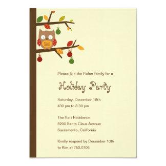 Christmas Owl Holiday Party Invitation Invitation
