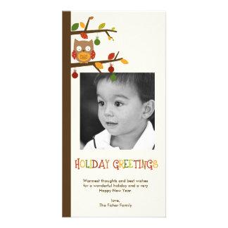 Christmas Owl Holiday Photo Card