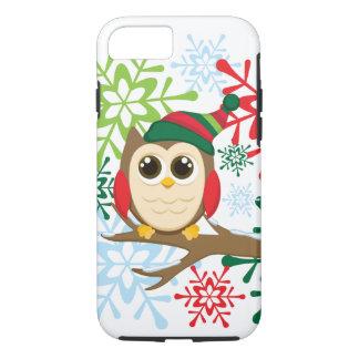 Christmas owl iPhone 8/7 case