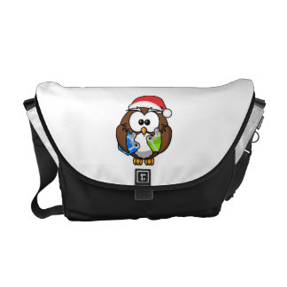 Christmas Owl Courier Bags