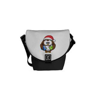 Christmas Owl Messenger Bag