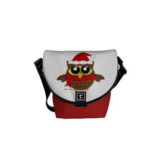 Christmas Owl Courier Bag