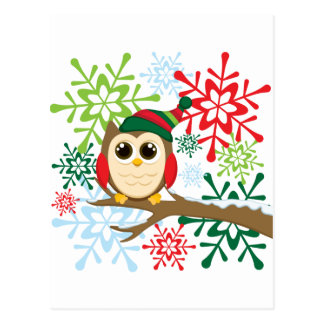 Christmas owl post cards