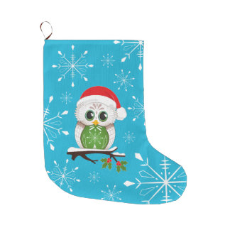Christmas Owl Stocking