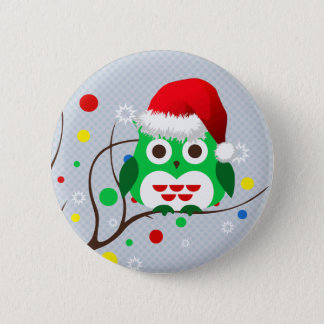 Christmas Owl Trend 6 Cm Round Badge