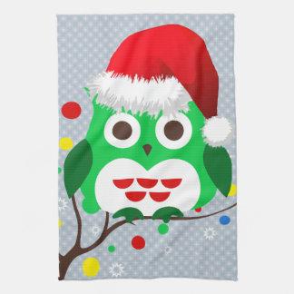 Christmas Owl Trend Tea Towel