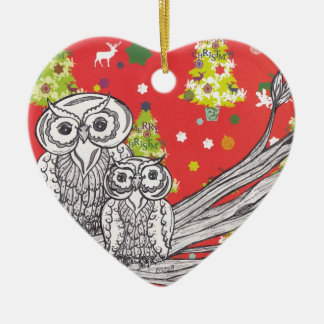 Christmas Owls1 Ornament