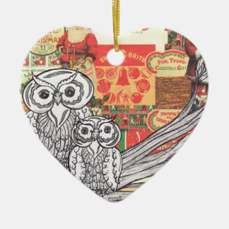 Christmas Owls 2 Ornament