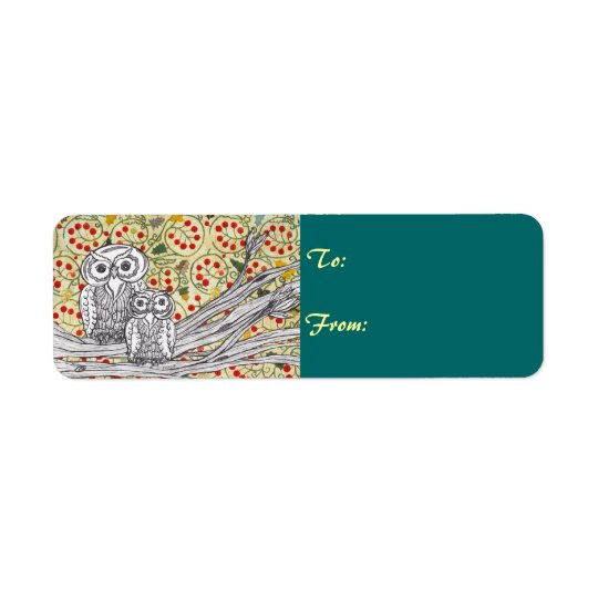 Christmas Owls 3 Labels