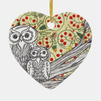 Christmas Owls 3 Ornament
