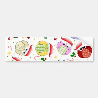 Christmas Owls Design Bumper Sticker