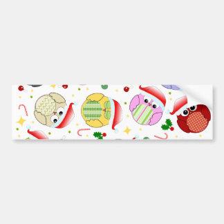 Christmas Owls Design Bumper Stickers