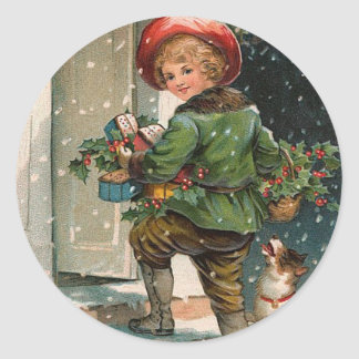 Christmas Packages Round Sticker