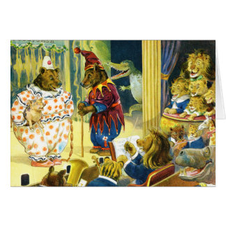 Christmas Pageant in Animal Land Card